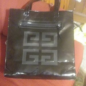 Large givenchy parfums shiny bag. Clean